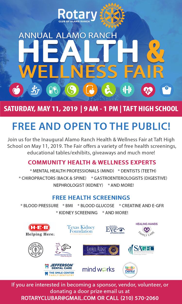 inaugural health and wellness fair  u2013 san antonio community